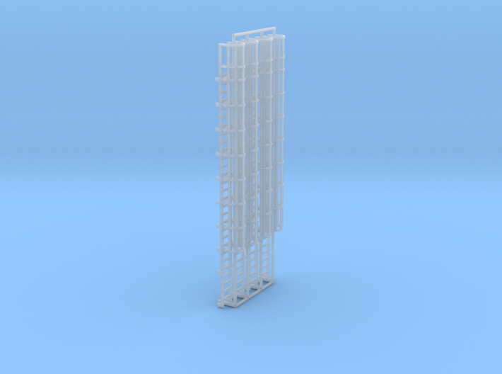 1:100 Cage Ladder 93mm Top 3d printed