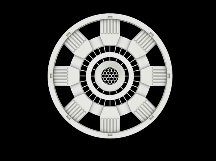 Iron Man Mark IV Arc Reactor (1 of 2 parts) 3d printed Front
