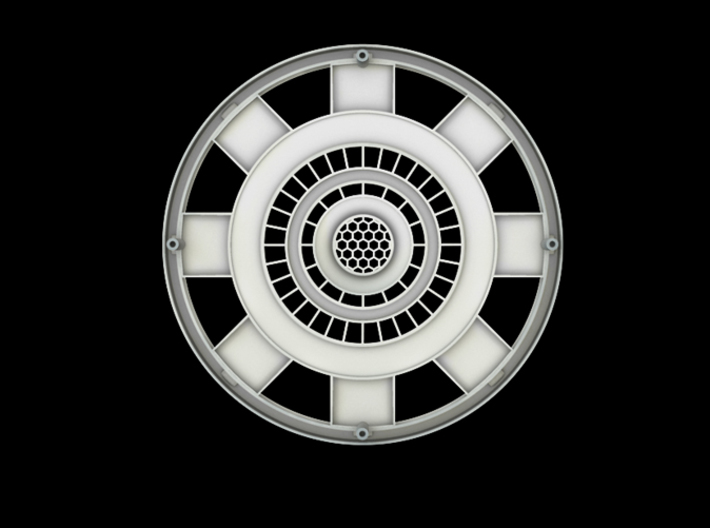 Iron Man Mark IV Arc Reactor (1 of 2 parts) 3d printed Back