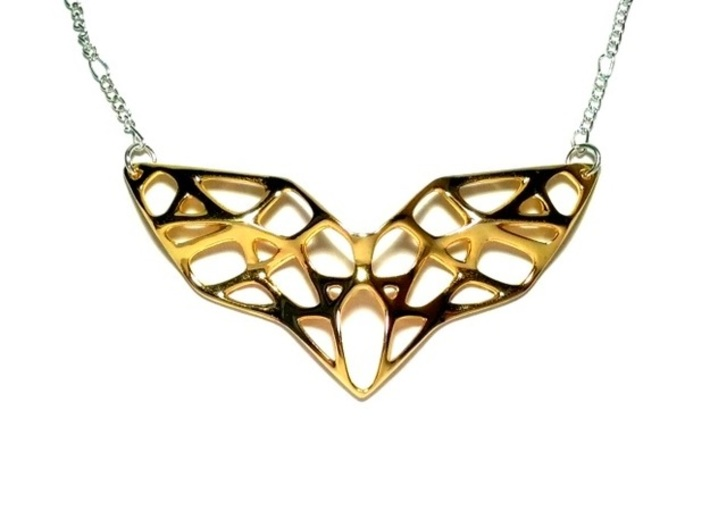 Goldmine Necklace 3d printed Polished Brass