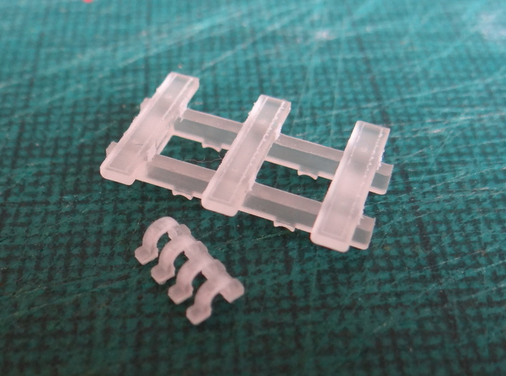 3 Bar Narrow Gauge Slab Wagon (x3) 3d printed Printed Prototype Parts for One Wagon