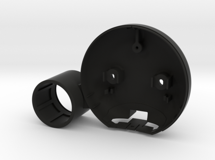 Tach Housing with Left side Gauge Pod for R53 3d printed
