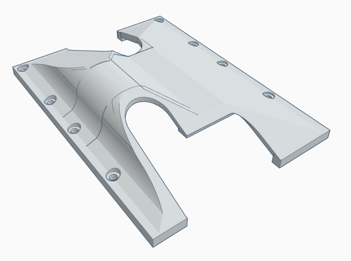 TF2 GCM LRT2 Trans/T-case Skid Plate LEFT SIDE 3d printed