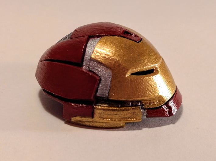 Hulkbuster Head (hi res/with rotation) 3d printed Medium, smooth fine detail, with rotation