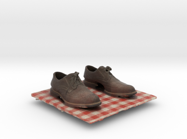 Gray Wingtip Shoes 3d printed