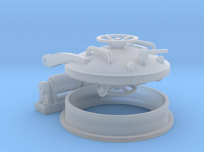 1/24 U boat Hatch (hinged) 3d printed
