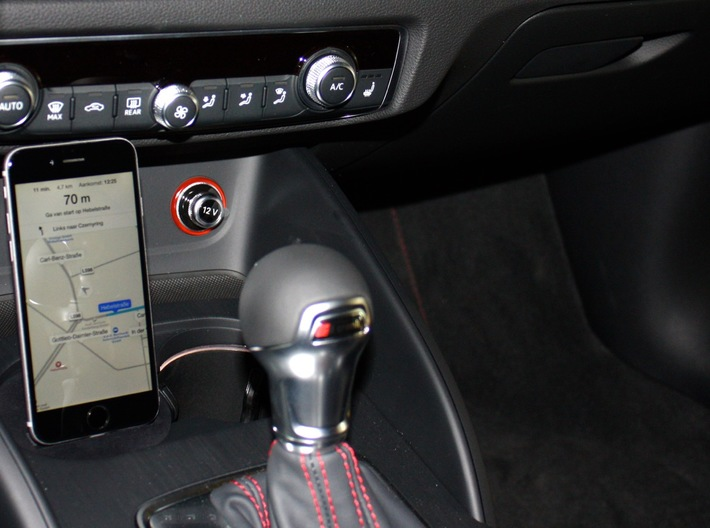 Audi A3/A4/S3 iPhone car Mount Adapter 3d printed Audi A3 iPhone 5, 6 Adapter Mount Cradle Dock Docking Holder Houder Stand for Audi A3, Navigation via siri ios
