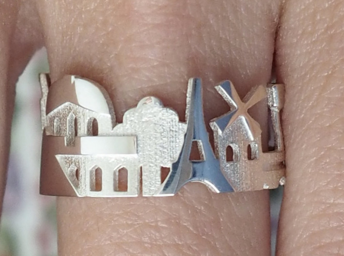 Paris Ring - Gift for Women 3d printed