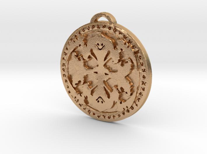 Warlock Class Medallion 3d printed