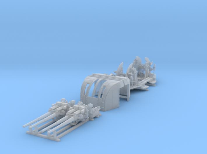 """1/144 RN 4""""/45 (10.2 cm) QF Mark XVI Guns x2 3d printed 1/144 RN 4""""/45 (10.2 cm) QF Mark XVI Guns x2"""