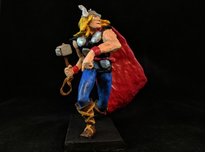 Thor 3d printed Example of this model hand painted.