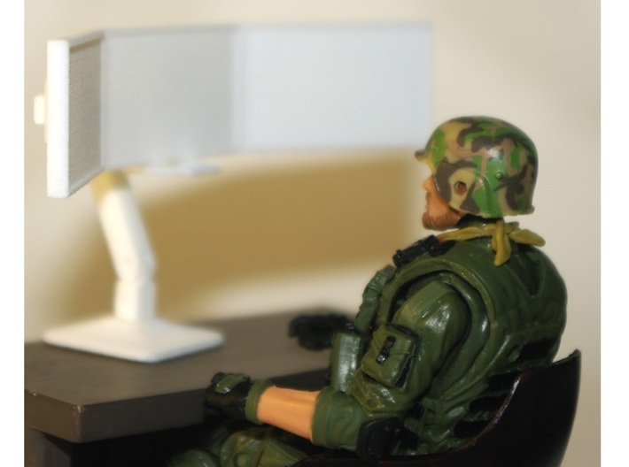 1:18 Scale Monitor Array (Articulated) 3d printed