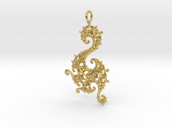 Klein Dragon Pendant 3d printed