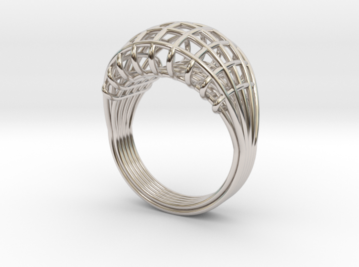 Wired ring 3d printed