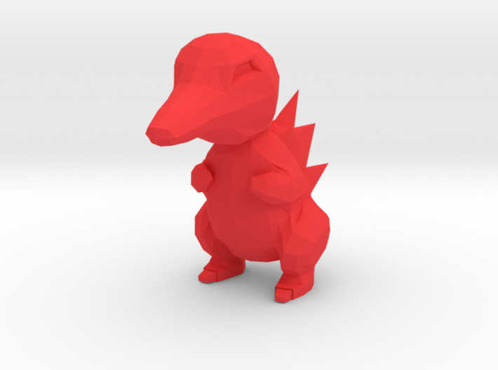 Low Poly Cyndaquil 3d printed