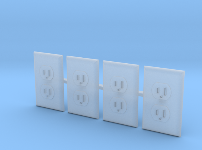 Outlet Faces Only, 1/12 Scale 3d printed