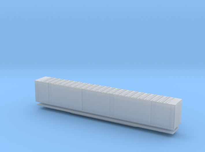 Z Scale 86 foot 4 door boxcar 3d printed
