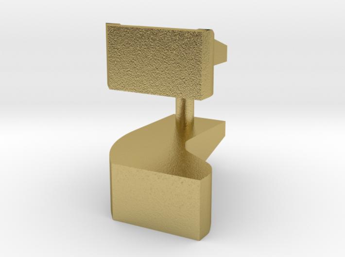 HO scale 1/87 Brooks curved tender steps 3d printed
