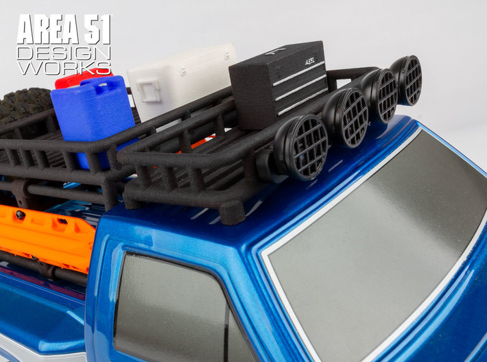 12th Scale Overland Roof Rack 3d printed Shown with optional XP LED Roof Light Kit #29267