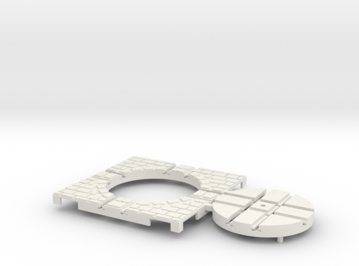 T-9-wagon-turntable-36d-100-corners-large-1a 3d printed