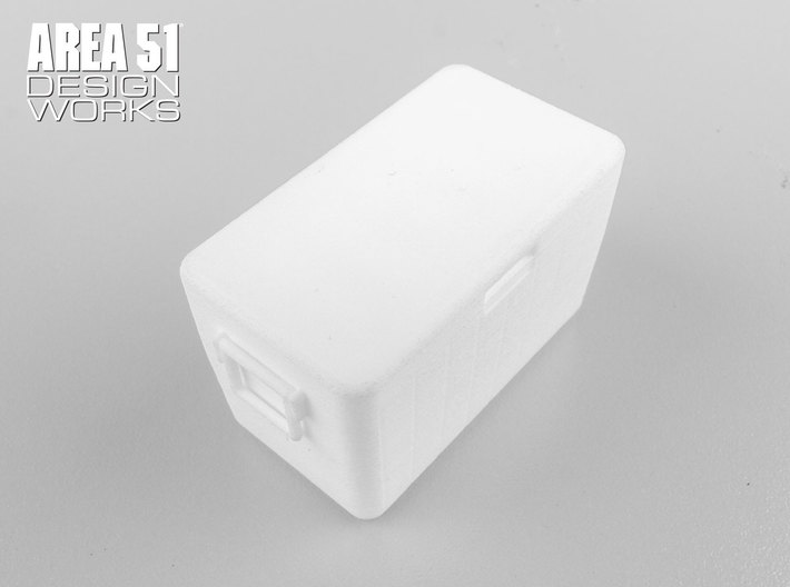 12th Scale Cooler 3d printed Shown in white