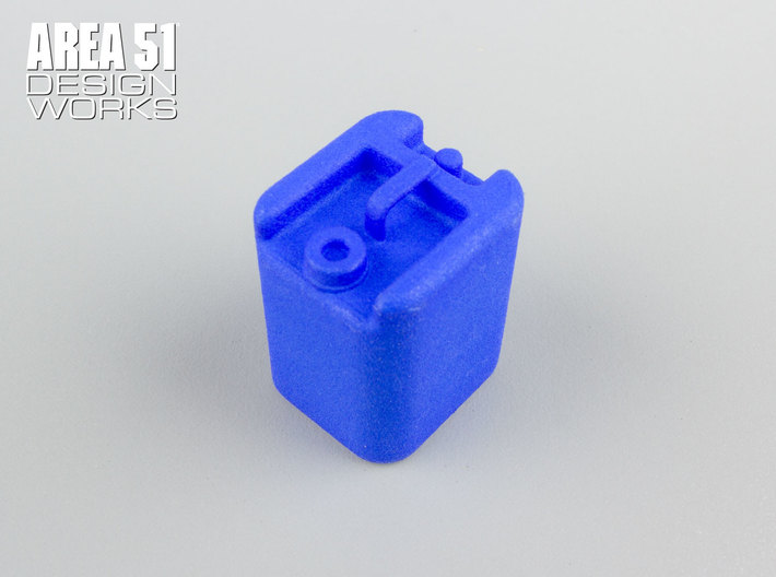 12th Scale Water Container 3d printed Shown in blue