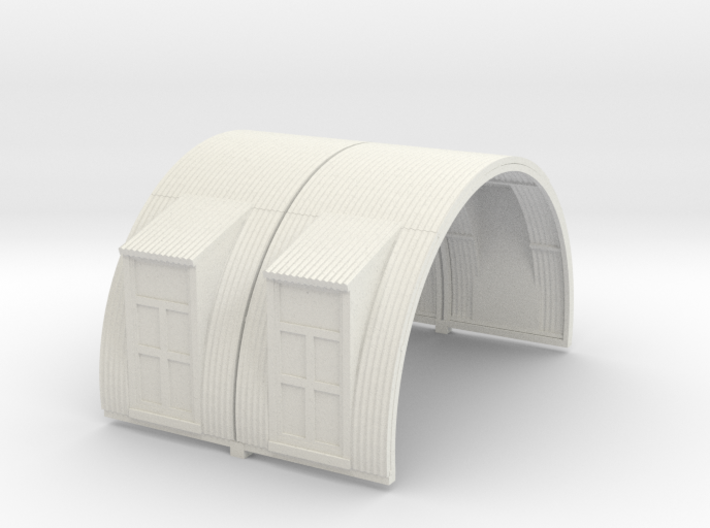 N-87-complete-nissen-hut-mid-16-two-doors-1a 3d printed