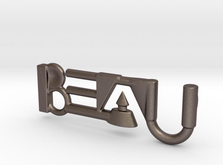 Beau's Name - Geometric Name Pendant 40 mm 3d printed