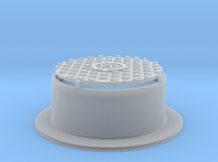 Raised Waffle Pattern Manhole Cover 1:20.3 Scale 3d printed