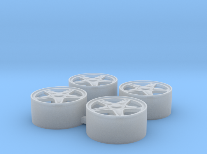 "4x Wheel Rim for MINI Cooper ""5 Star Blaster"" 3d printed"