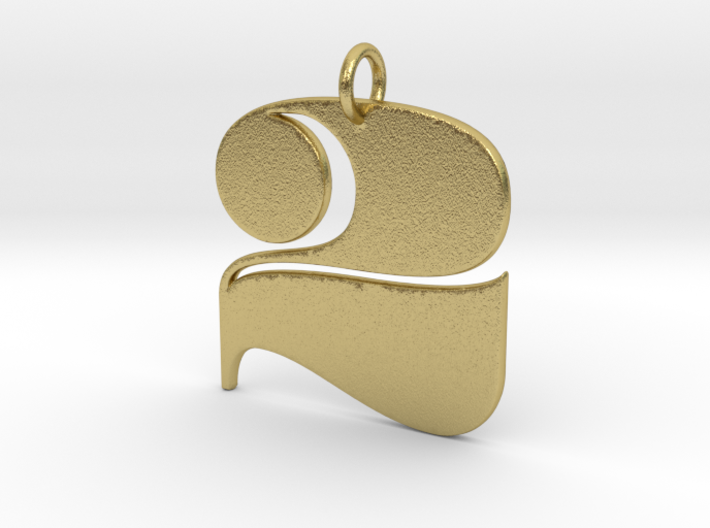 Numerical Digit Two Pendant 3d printed