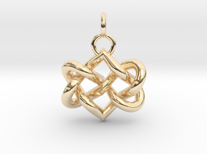 Celtic heart 3d printed