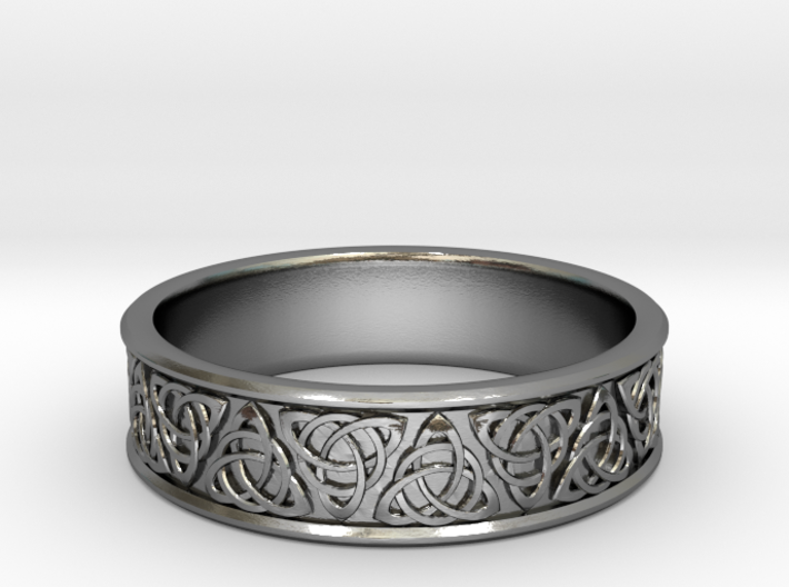 Celtic Tri-Knot Ring~size US 8 3d printed