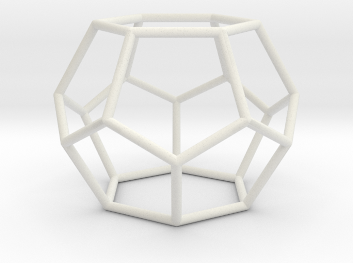 Fullerene with 14 faces 3d printed