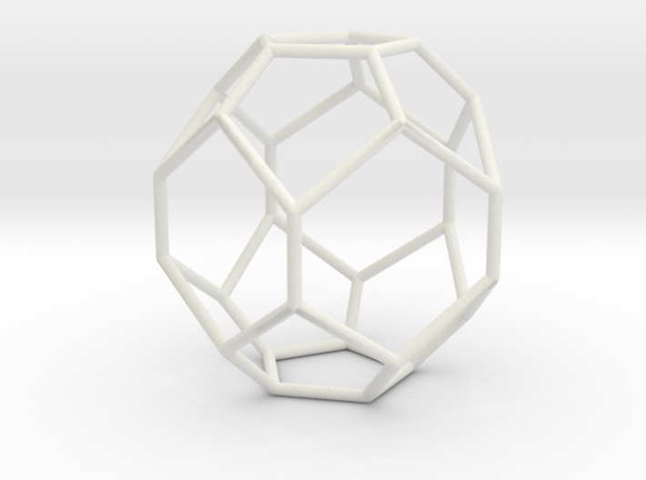 Fullerene with 17 faces, no. 1 3d printed