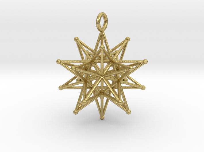 Stellated Icosahedron 27mm diameter 3d printed