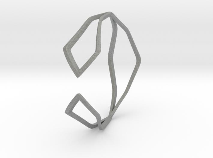 HIDDEN HEART Sharp, Bracelet. 3d printed