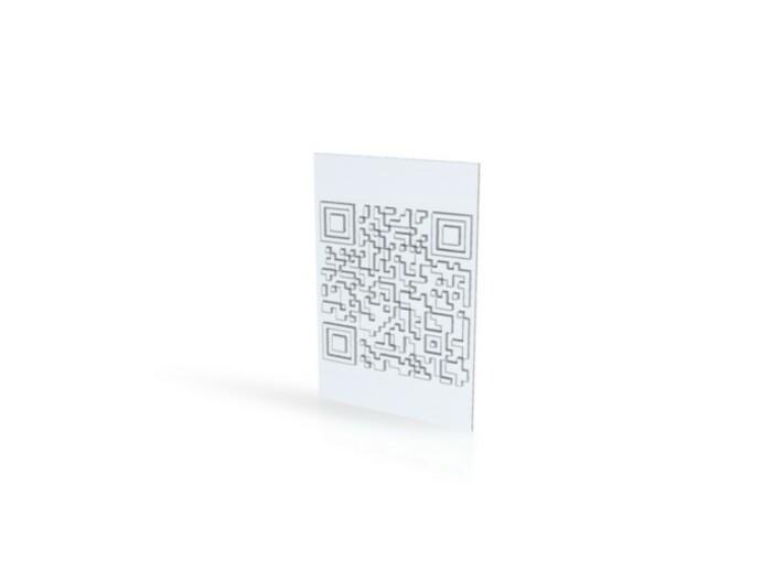QR 3d printed