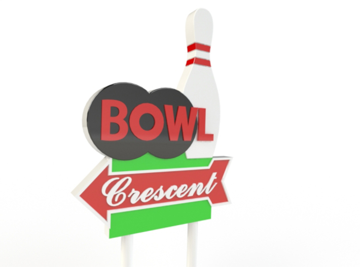 CRESCENT BOWL SIGN (HO SCALE) 3d printed