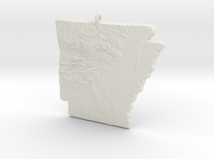Arkansas Christmas Ornament 3d printed
