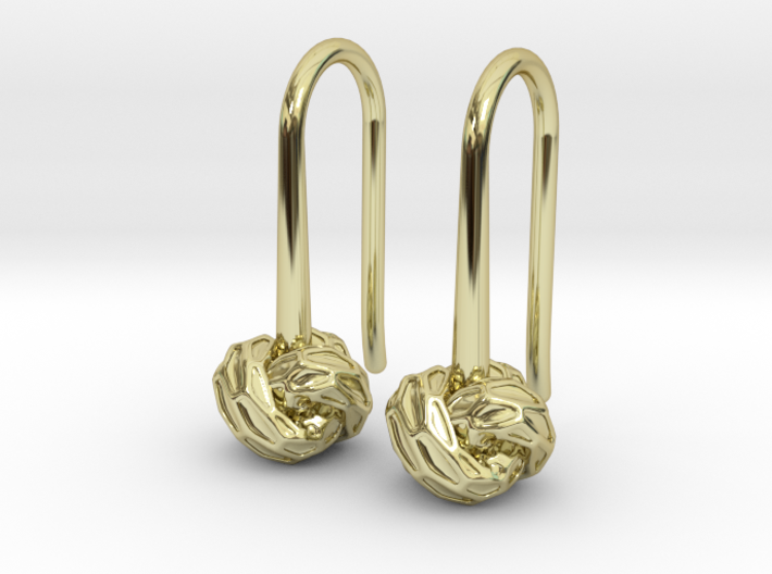 D-STRUCTURA S Earrings. 3d printed