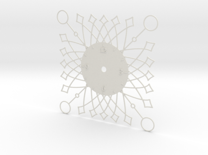 Sunburst Clock - Buttercup 3d printed