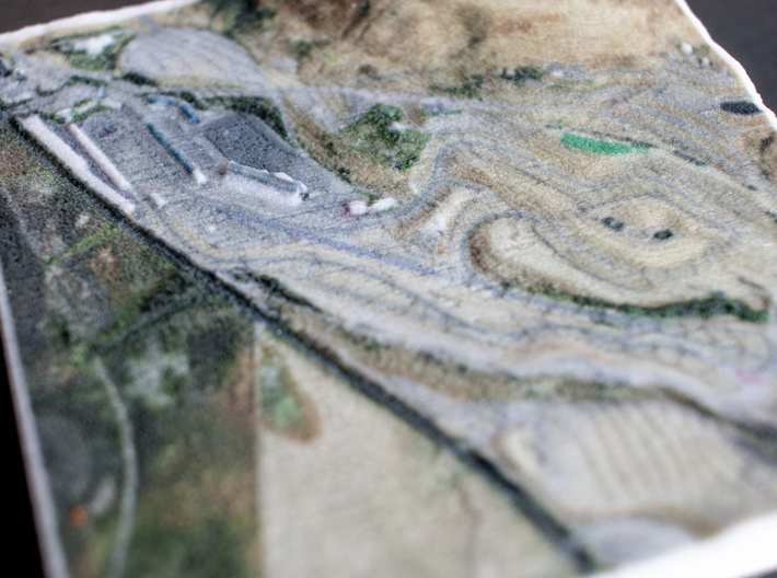 Sonoma Raceway, Sears Point, California, 1:20000 3d printed