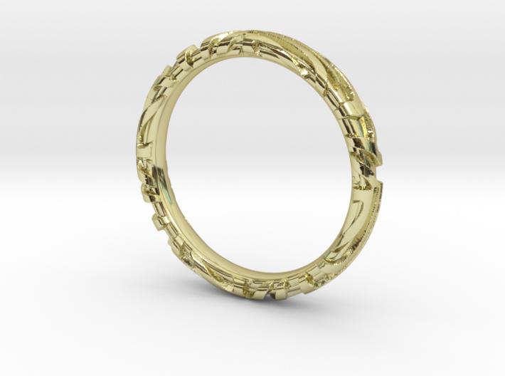 Wedding Ring Zebra 3 mm 3d printed