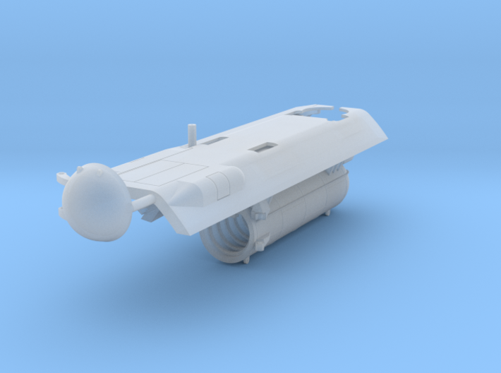 HMS Spartan (S105) Dry Deck Shelter 1/350 3d printed