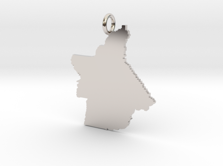 Butte County Pendant 3d printed