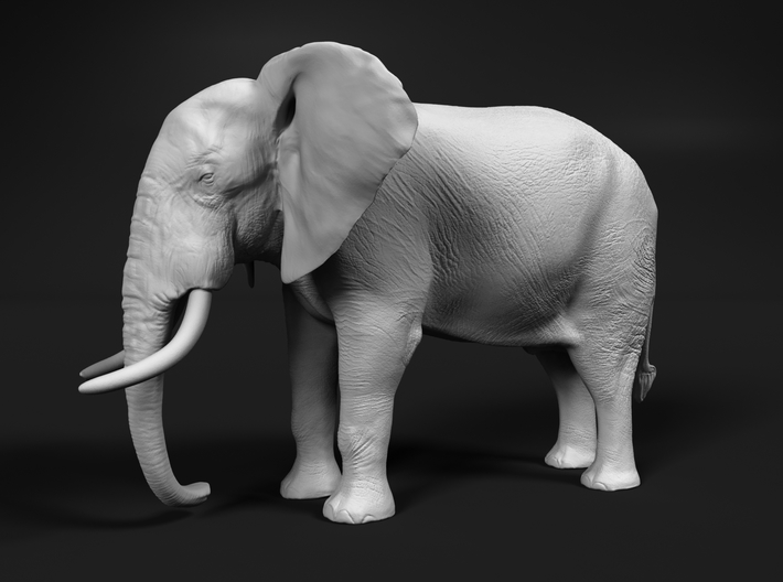 African Bush Elephant 1:87 Standing Male 3d printed