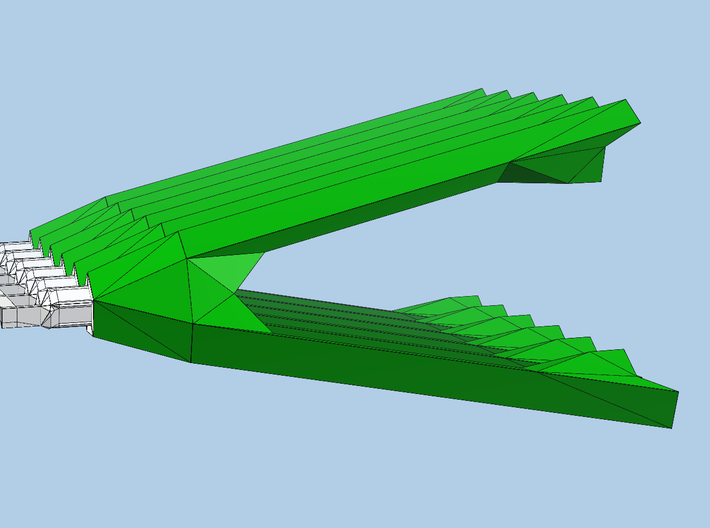green-Vs-for-dodec-diagonals 3d printed