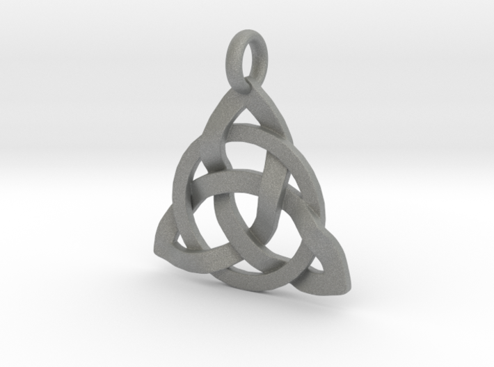 Circle Knotty Pendant 3d printed