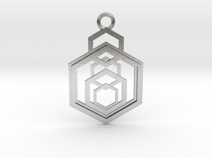 Geometrical pendant no.9 3d printed